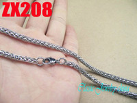 South American american basket - Hot salel recommend stainless steel necklace mm basket chain men women s chains mm ZX208