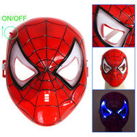 Wholesale Hot sale party mask Halloween Mask LED Spider man Mask for Halloween Masquerade Cosplay H8887