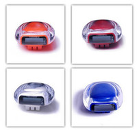 Wholesale LCD Pedometer Counter MINI Electronic Digital Multi function Culculation of Running KG KM Gifts p