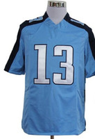 Wholesale Elite Dark Blue White Light Blue Elite Game Kids Football Jerseys MIX ORDER size