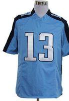 Wholesale Elite Dark Blue White Light Blue Elite Game Kids Football Jerseys MIX ORDER size