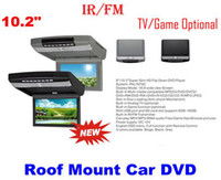 Wholesale 10 quot HD LED Flip Down Roof Mount Car DVD Player With IR FM transmitter TV Game function optional