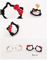 Wholesale Korean version jewelry fashion cute bow the kitten girl baby earrings earrings A0276