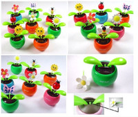 Wholesale car Swing Solar Flower Magic Cute Flo Flip Flap solar flower solar dancing flowers