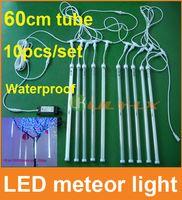 Wholesale 10pcs set cm led meteor shower light with driver waterproof meteor Lights for christmas decoration
