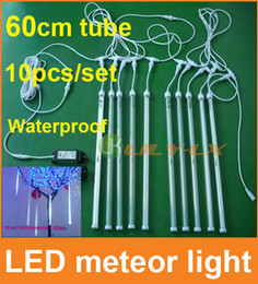 10pcs set 60cm led meteor shower light with driver waterproof meteor Lights for christmas decoration