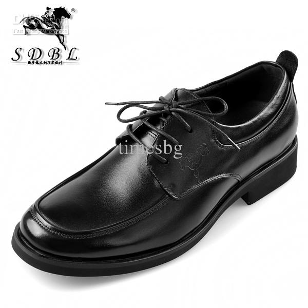 brand sdbl dress cattle leather shoes black non slip