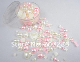 Wholesale 1400pcs per many kinds of Nail Art pearl rhinestone sticker Bling Bling decoration NP002