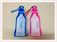 Automatic Feeders & Waterers Plastic Indoor Free shipping medium-size Potable Pet Dog Cat Water Feeding Drink Bottle Dispenser Travel Bowl 350ml