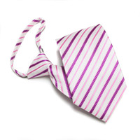 Normal men's ties - men s ties striped necktie waterproof zip tie convenient neck ties