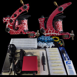 Wholesale Beginner Gun Kit Pro Machine Gun Power Supply Foot Pedal Needles Grip Tip Ink Cups K2