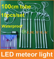 Wholesale 10pcs set cm led meteor shower light with driver waterproof meteor Light for christmas decoration