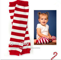 Girl baby gifts legs - Baby Leg Warmers For Christmas Red White Stripe Leg Warmer Holiday Baby Gifts Photography Props pair QueenBaby
