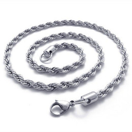 5mm 316L Stainless Steel Twisted Rope Chain Necklace( 20-26 inches )