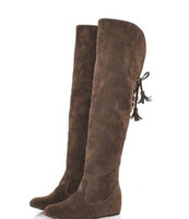 Wholesale 2012 New Long Boots Woman overknee Snow boots Internal higher boots