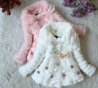 Wholesale 2012 new hot girls warm coat hoody kids princess long sleeve winter fleece overcoat jacket coat