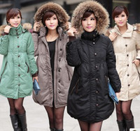 Wholesale Women s clothes Korean Trendy Women in the long Section Big Code Raccoon Fur Collar Down Jacket