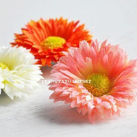 Clip & Pin artificial flower pins - Artificial Flowers Clip Hair Clips Accessories for Bride Daisy Beach Honeymoon Colors