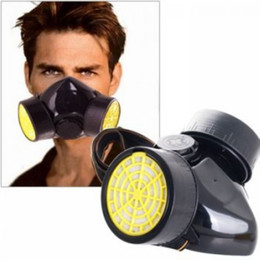 Wholesale Hot Anti Dust Paint Respirator Mask Safety Goggles Gas Mask Industrial Chemical Gas Mask Retail And