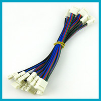 Wholesale 5050 RGB LED strip light connector with wire without welding connector at each end of wire