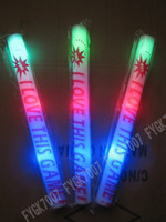 Wholesale LED foam sticks Glow sticks Party props sponge stick flash stick cheering EMS