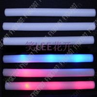 Wholesale 180pcs led foam stick flashing foam stick light up cheering foam stick foam glow stick led stick