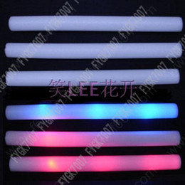 200pcs lot led foam stick flashing light up cheering Sponge Concert supplies glow stick led stick free EMS