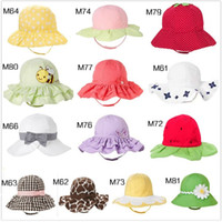 Wholesale 13 styles baby sunbonnet girl s and boy s Visor stay away sun Cotton bucket hat EEL WEAR