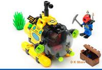 Wholesale 122 units Blocks toys submarine U boat Building blocks toy submarine deep sea treasure expedition