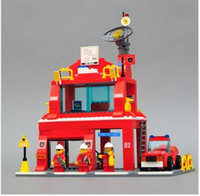 Retail Fire headquarters  Educational Blocks Game: Fire headquarters kit Fire truck fire station Assembly intelligence toys