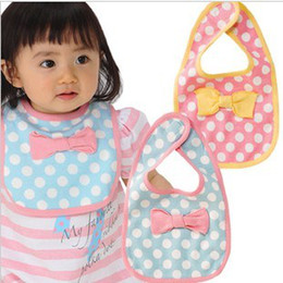 Wholesale HOT baby bib baby bow bibs toddler bibs kids girls infant bibs baby feeding bibs cotton bibs
