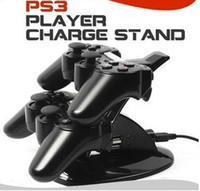 Wholesale 1pcs Dual Charger PS3 wireless controllers silicone controller case for PS3 free CPA