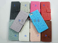 Wholesale 500pcs Bookbook Magic Girl PU Leather Hard Case Cell Phone Cover Sleeve for iphone G th