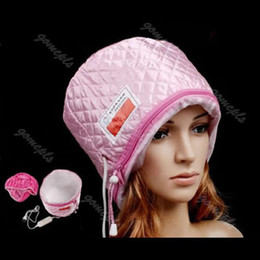 Wholesale Hair Thermal Treatment Beauty Steamer SPA Cap Hair Care Nourishing V Pink