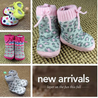 Wholesale Crochet Boots Newborn infant Snow Boots Knitting shoe socks booties Girls Baby foot shoes boot