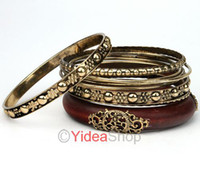 Wholesale 36pcs sets Bracelets Fashion Retro Style Wood Carving Multipayers Bangle Bracelet