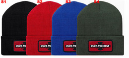 Wholesale Beanie Independent Fuck The Rest Collection Skull Caps Winter Hats Cool Fashion Headwear Mix Order