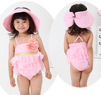 Wholesale Children s Swimwear Cute Flower Pink Swimming Suits Baby Beach Wear Kid Bathing Suit Infant Swimsuit