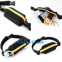 Wholesale Running Cycling Sport Bag Elastic Pouch Pockets Belt Universal For Cell Phone Key Bike MP4