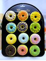 Wholesale Free Ship Pieces Mixed CM Whole Donut Squishy Fridge Magnet Food Sweets Christmas Gift for Kids
