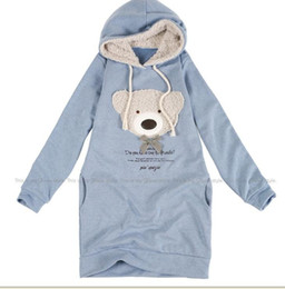 Wholesale NEW hoodie long top pullover winter wrap garment wrap women s clothing hoodie Cute teddy A1021