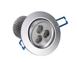 DIMMABLE White 9W LED Recessed Ceiling Spot Down Light 110V 240V