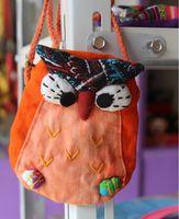 Wholesale Hot sale female bag Owl wrist portable zero wallet Ethnic customs mobile phone handbags long belt