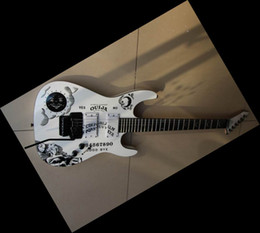 Best price sale ebony Guitar High-quality white one piece body white electric guitar in stock