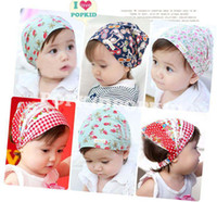 Wholesale Fashion Children Accessories Baby Girls Skull Cap Cotton Scarf Baby Bandanas Shawl Scarf