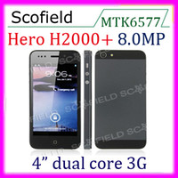 Wholesale Hero H2000 MTK6577 IP5 H5 WIFI TV G WCDMA GSM GPS MP inch Cell Phone S th i9 Smartphone