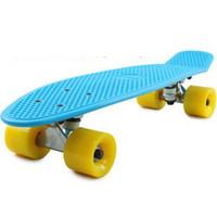 """Rocket Board Plastic 22 inch free shipping 22"""" Penny Nickel Skateboard drift Block Neon Blue PV Cruiser Mini Complete Longboard"""