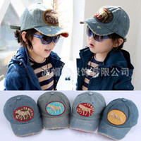 Wholesale Fashion Boys Base Ball Caps Children Denim Caps Kids Sun Hat Boys Hats Child Snapback Hat