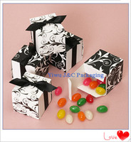 Wholesale Reversible Flourish Wrap Wedding Favor Boxes Chocolate Box Candy Box JCO