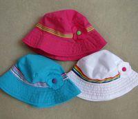 Girl Summer Visor Fashion Cotton Children Bucket Hat Caps Kids Sun Hat With Flower Baby Hat Baby Girls Summer Hat